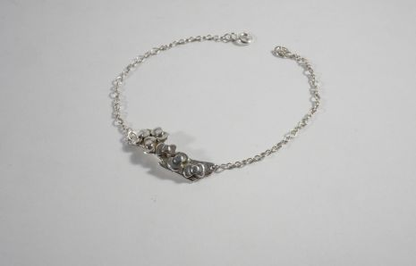 Branch in flowers bracelet