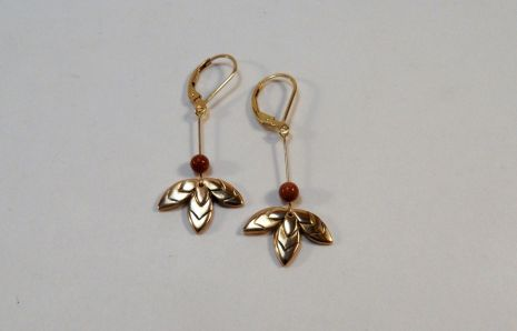 Bali bronze earrings