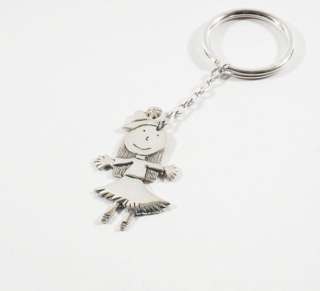 porte-clés-la-danseuse-argent-kidsart-bijoux