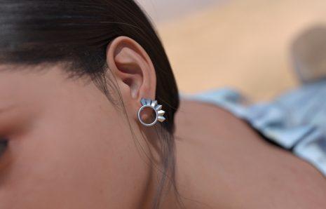 Boucles d'oreilles audacieuse rondes
