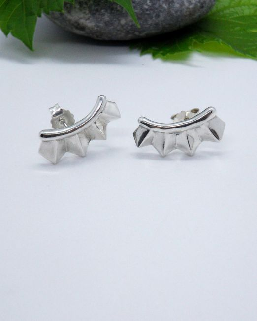 women silver earrings