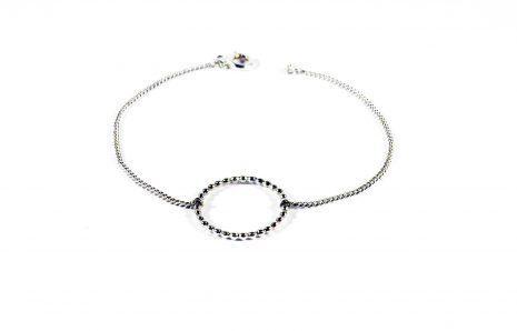 Bracelet perlé en argent
