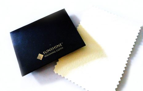 Sunshine polishing cloth for bronze and silver jewels